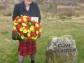 Louisa_Cross_at_Clan_Mackintosh_marker_on_the_battlefiled