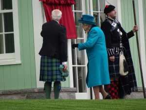 The Queen opening the new visitor centre at Braemar