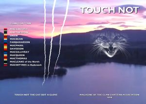 2020 Touch Not Magazine front cover picture